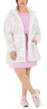 Calvin Klein Plus Size Iridescent Hooded Jacket