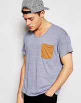 American Apparel T-shirt With Contrast Pocket - Grey