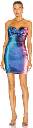 Area Strapless Sculpted Mini Dress in Blue & Pink | FWRD