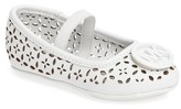 MICHAEL Michael Kors Toddler Girl's Lyndsay Rae Perforated Mary Jane Flat