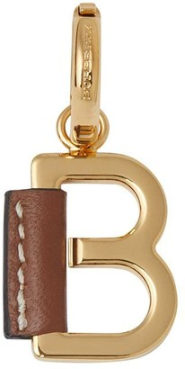 Burberry Leather-wrapped B Alphabet Charm