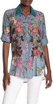 Countess Margaret Floral Sequin Shirt