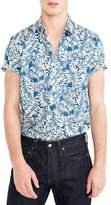 J.Crew J. CREW Secret Wash Short Sleeve Fern Print Sport Shirt