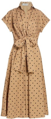 Silvia Tcherassi Rigone Polka Dot Bow Shirtdress