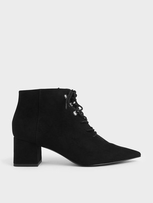 Charles & Keith Lace-Up Ankle Boots