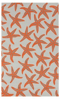 Beachcrest Home Solana Hand-Hooked Orange Area Rug