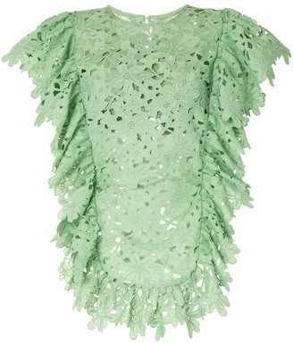 Bambah Lace Ruffled Tunic Dress
