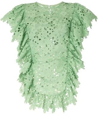 Bambah Lace Ruffled Tunic Dress