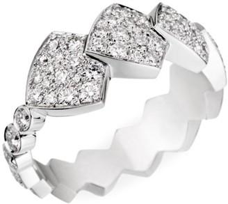 Akillis Python Tatou 18K White Gold & Diamond Ring