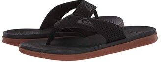 Quiksilver Haleiwa Plus (Black/Black/Brown 2) Men's Sandals