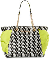 Betsey Johnson Hotty Pocket Polka-Dot Tote Bag, Citron