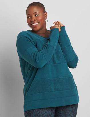 Lane Bryant LIVI Sherpa-Striped Sweatshirt