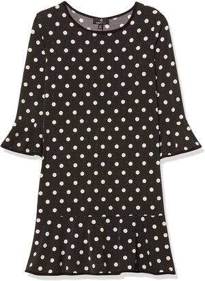 Ronni Nicole Women's Ruffle Sleeve Puff Print with Flounce Skirt