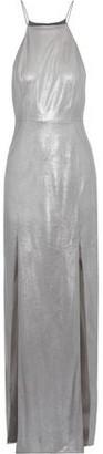 Halston Metallic Faux Leather Gown