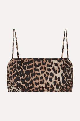 Ganni Leopard-print Bikini Top - Leopard print