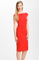 'Gabi' Draped Sheath Dress