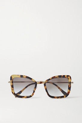 Miu Miu Oversized Cat-eye Tortoiseshell Acetate And Gold-tone Sunglasses