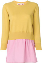 Marni colour block sweater - women - Cotton/Cashmere/Virgin Wool - 40