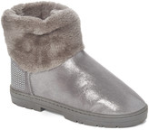 Via Rosa VIA ROSA Women's Cold Weather Boots Pewter - Pewter Rhinestone Shimmer Faux Fur Ankle Boot - Women