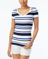 Tommy Hilfiger Wendy Striped V-Neck T-Shirt