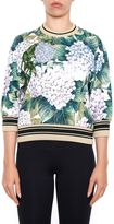 Dolce & Gabbana Hydrangea Print Sweatshirt