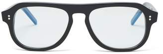 Cutler And Gross - Aviator Acetate Glasses - Mens - Black