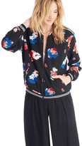 Sole Society Bloom Zip Front Bomber Jacket
