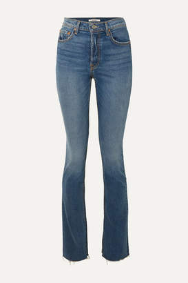 GRLFRND Addison High-rise Straight-leg Jeans - Mid denim