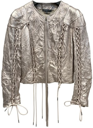 Alexander McQueen Gold Leather Leather jackets