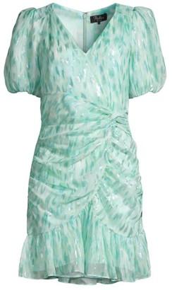 Parker Nilla Ruched Silk-Blend Dress