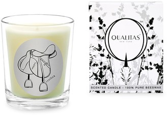 Qualitas Candles Leather Scented Beeswax Candle
