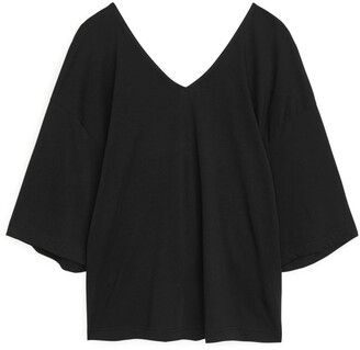 Arket Twist-Detail Jersey Top