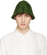 Wales Bonner Green Crochet Syms Hat