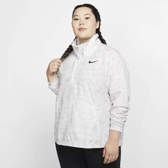 Nike Women's 1/2-Zip Printed Running Jacket (Plus Size Dri-FIT