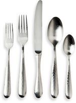 Ricci Argentieri Satin Hammered Stainless Steel 5-Piece Place Setting