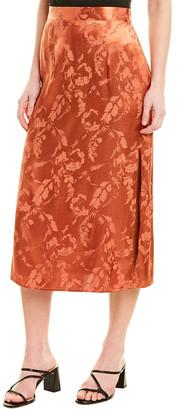 Saltwater Luxe Satin Midi Skirt