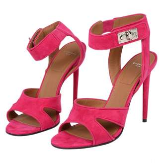 Givenchy Shark Pink Suede Sandals