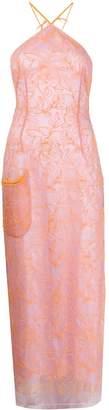 Jacquemus La robe Lavandou embroidered tulle dress