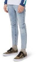 Topman Men's Ripped Cutoff Skinny Jeans