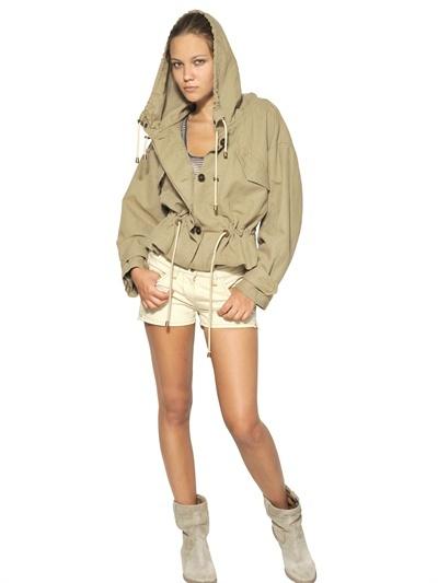 Etoile Isabel Marant Cotton Linen Canvas Jacket
