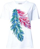 Emilio Pucci feather print T-shirt - women - Cotton - L