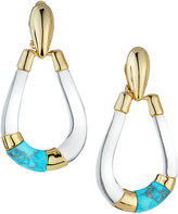 Alexis Bittar Lucite Colorblocked Teardrop Earrings, Clear