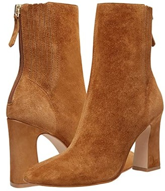 Steve Madden Cassidee Dress Bootie (Cognac Suede) Women's Boots