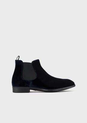 Giorgio Armani Velvet Beatle Boots