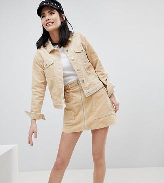 Monki Cord Mini Skirt-Beige