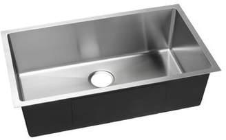 """evo Hahn 32"""" L x 19"""" W Undermount Kitchen Sink with Drain Assembly Hahn"""