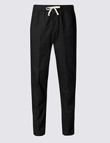 M&S Collection Regular Fit Pure Cotton Trousers