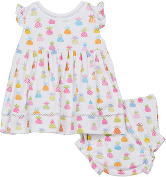Kissy Kissy Girl's Pineapple Island Ruffle Dress w/ Bloomers, Size 6-24M