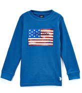 U.S. Polo Assn. Cobalt Flag Graphic Long-Sleeve Crewneck Top - Toddler & Boys