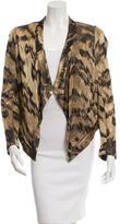 Diane von Furstenberg Patterned Asymmetrical Jacket